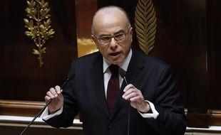 Bernard Cazeneuve pendant son discours de politique générale à l'Assemblée nationale, le 13 décembre 2016