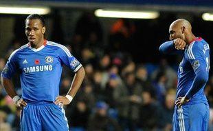 Didier Drogba et Nicolas Anelka, le 14 novembre 2010.