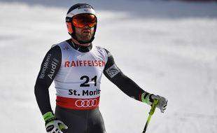 David Poisson lors de l'épreuve coupe du Monde de St. Moritz, le 7 février 2017.