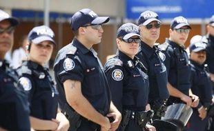 Policiers canadiens chargés de la sécurité du G8 à Huntsville et du G20 à Toronto en juin 2010.