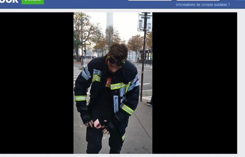 L'homme affirmant avoir été blessé par un CRS est bien un pompier