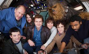 L'équipe de Solo - A Star Wars Story avant son arrivée à Cannes