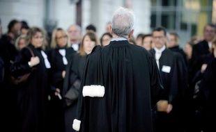 Rassemblement d'avocats pour protester contre le projet de réforme, le 27 octobre 2014 à Nantes