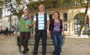 A Bordeaux, le 7 octobre 2014, les organisateurs d'Alternatiba Gironde ont présenté la manifestation qui se tient du 10 au 12 octobre.