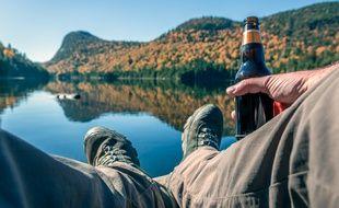 Ni avant, ni après... la bière se déguste pendant la rando.