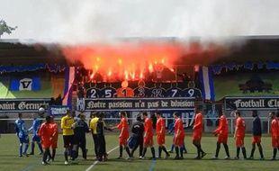 Les supporters duSaint-Germain FC, le dimanche 4 mai 2014.