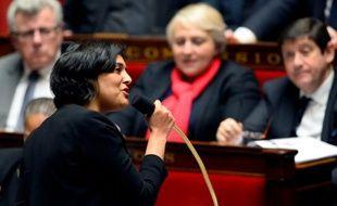 La ministre du Travail Myriam El Khomri, le 19 janvier 2016 à l'Assemblée nationale à Paris