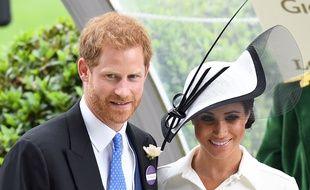 Le prince Harry et Meghan Markle au Royal Ascot  le 19 juin 2018.