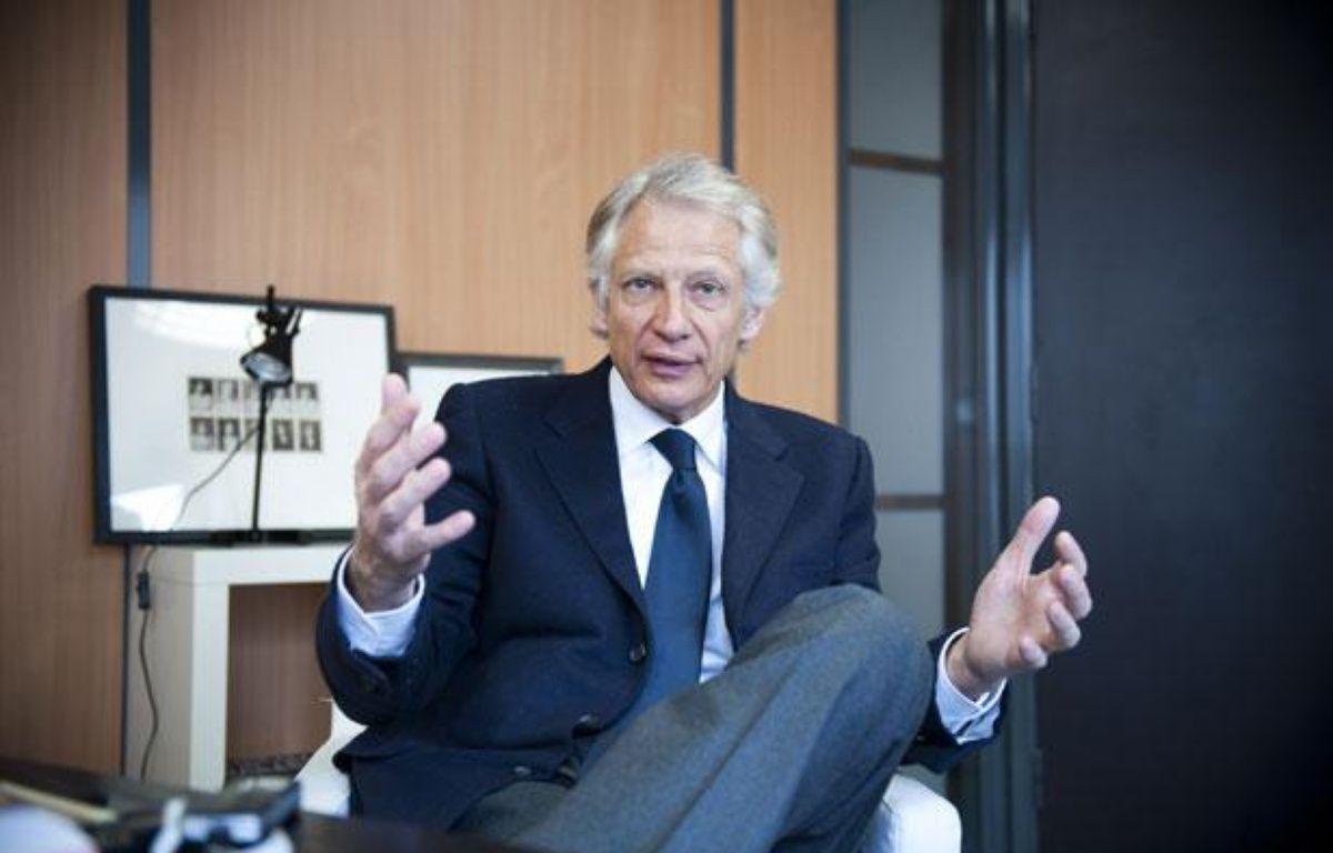 Dominique de Villepin en interview a son QG de campagne, au 91 bis rue de Cherche-Midi àParis, le 1er mars 2012. – Vincent Wartner / 20Minutes