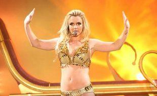 Britney Spears en concert, lors de sa tournée «Femme Fatale Tour» aux Etats-Unis, le 15 août 2011