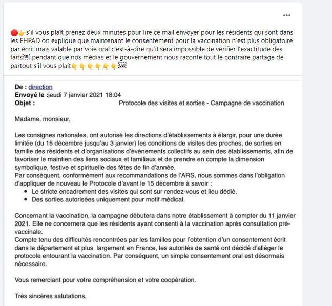 Le post Facebook sur le consentement en Ehpad.