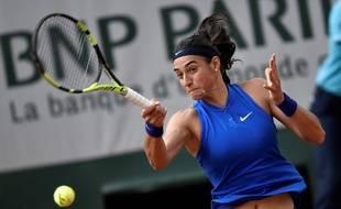 Caroline Garcia lors de son match contre Agnieszka Radwanska à Roland-Garros, le 25 mai 2016.