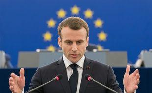 Emmanuel Macron au Parlement européen
