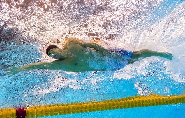Michael Phelps aux JO de Rio avec son joli maillot de bain.