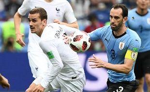 Antoine Griezmman, le 6 juillet 2018 contre l'Uruguay.