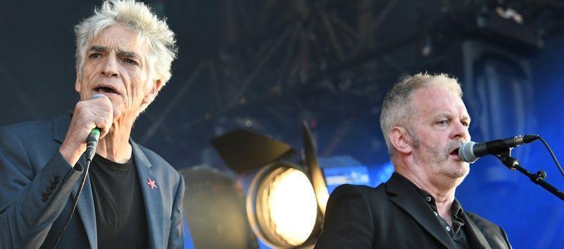 Reformé en 2017, Marquis de Sade (à gauche Philippe Pascal et à droite Frank Darcel) était la tête d'affiche des premières Trans Musicales, en juin 1979.