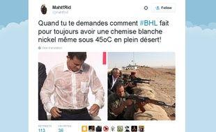 L'un des détournements des photos de BHL au Kurdistan irakien qui circulent sur Twitter depuis le 31 août 2015.