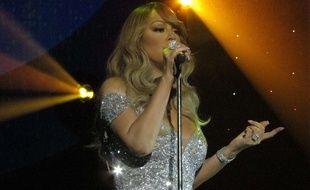 Mariah Carey, lors d'un concert à Glasgow (Ecosse), le 15 mars 2016.