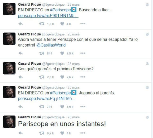 Pique, passion Periscope.