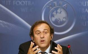 UEFA President Michel Platini talks to the media during a news conference after an UEFA Executive Committee meeting in Istanbul September 27, 2007.