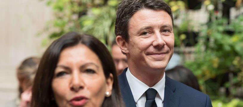 Anne Hidalgo et Benjamin Griveaux, en 2017