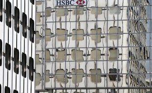 Le siège d'HSBC France à La Défense près de Paris, le 20 juin 2012