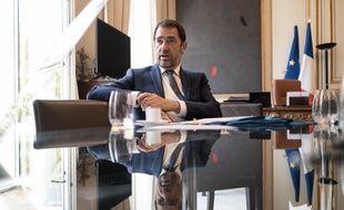 Christophe Castaner, ministre de l'Interieur dans son bureau Place Beauvau au Ministere de l'intérieur.