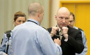 Anders Breivik lors du 2e jour de son procès.