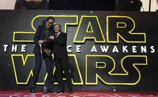 Peter Mayhew et Harrison Ford