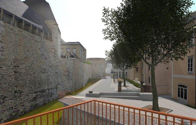 Une promenade sera aménagée le long des remparts.