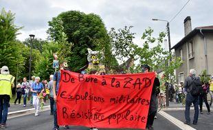 Manifestation le samedi 16 juin 2018 contre le projet d'enfouissement des déchets nucléaires à Bure (Meuse).