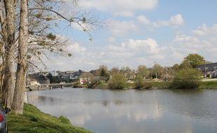 La Vilaine, ici traversant la ville de Redon.
