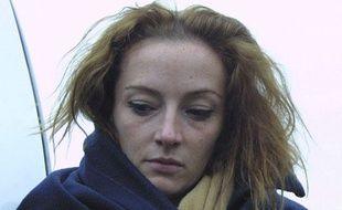 Florence Cassez lors de la reconstitution de son arrestation, en 2005.