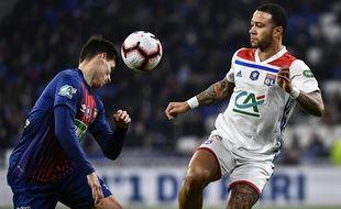 Memphis Depay a inscrit son premier but depuis le 10 novembre dernier, mercredi face à Caen (3-1).