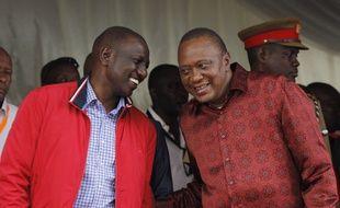 Le président du Kenya Uhuru Kenyatta (à droite) et son vice-président, William Ruto, à Mombasa, au Kenya, le 30 mai 2017.