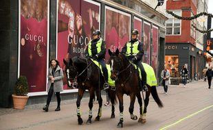 Des policiers dans une rue de Copenhague, le 17 novembre 2020 (illustration).