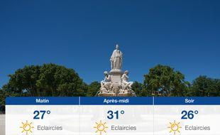 Météo Nîmes: Prévisions du mercredi 19 août 2020