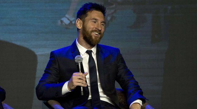 Lionel Messi lors d'une intervention publique à Shanghai, le 1er juin 2017.  –  Ng Han Guan/AP/SIPA