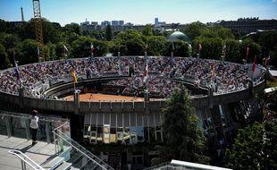 Le court n°1 de Roland-Garros le 1er juin 2019, avant sa destruction programmée.