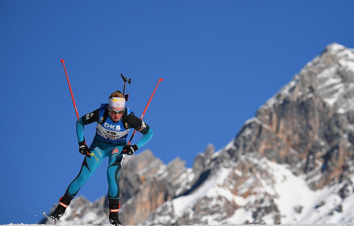 Marie Dorin et les Bleues ont pris le bronze lors du relais le 17 février 2017. – FRANCK FIFE / AFP