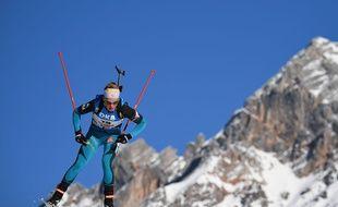 Marie Dorin et les Bleues ont pris le bronze lors du relais le 17 février 2017.