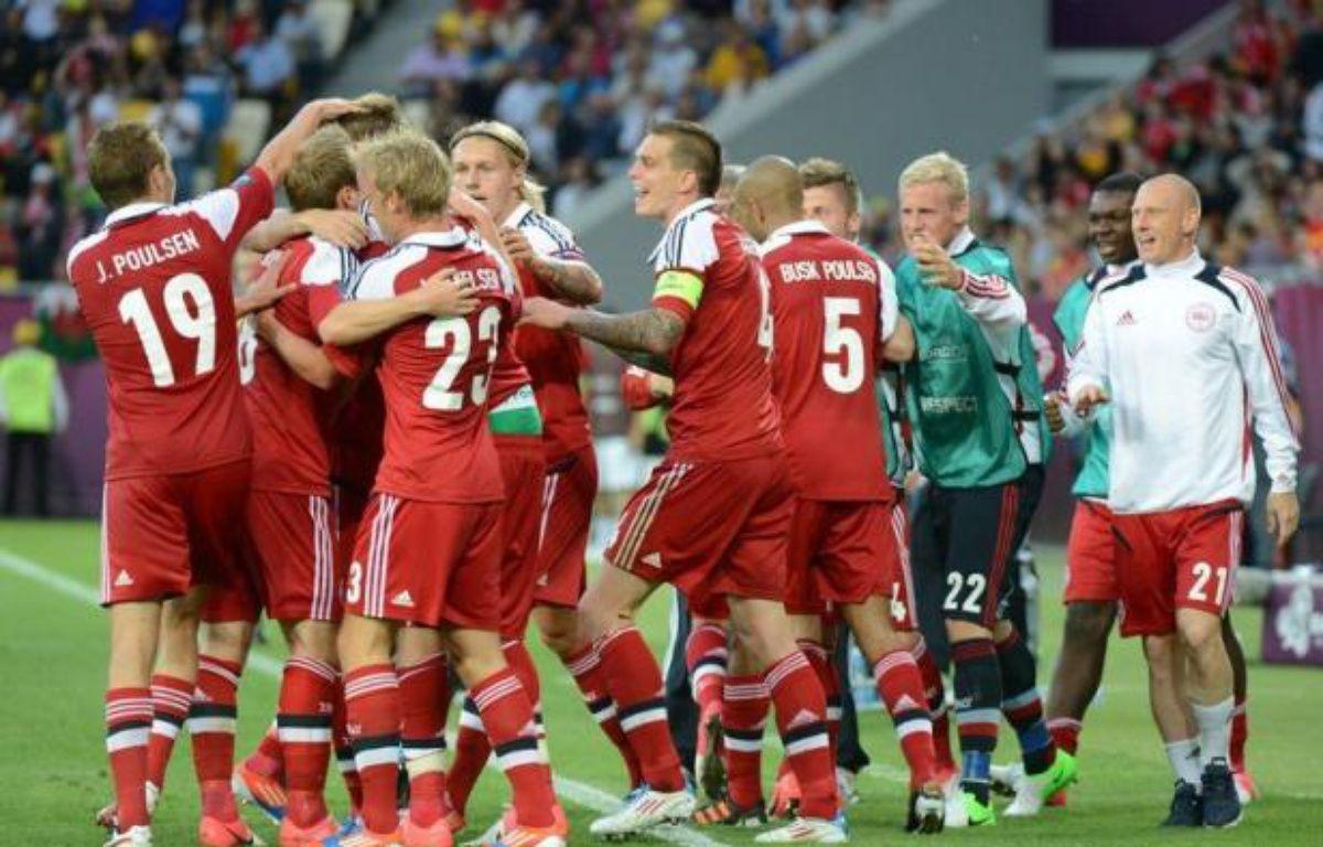 Le Danemark veut croire en ses chances de qualification pour les quarts de finale de l'Euro-2012, avant d'affronter l'ogre allemand, qui a déjà croqué le Portugal et les Pays-Bas, dimanche à Lviv (Ukraine), dans le groupe B. – Damien Meyer afp.com