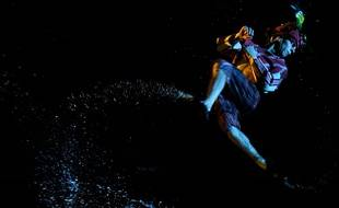 Un danseur lors de la cérémonie d'ouverture du Puy du Fou à Tolède en Espagne, le 30 août 2019.