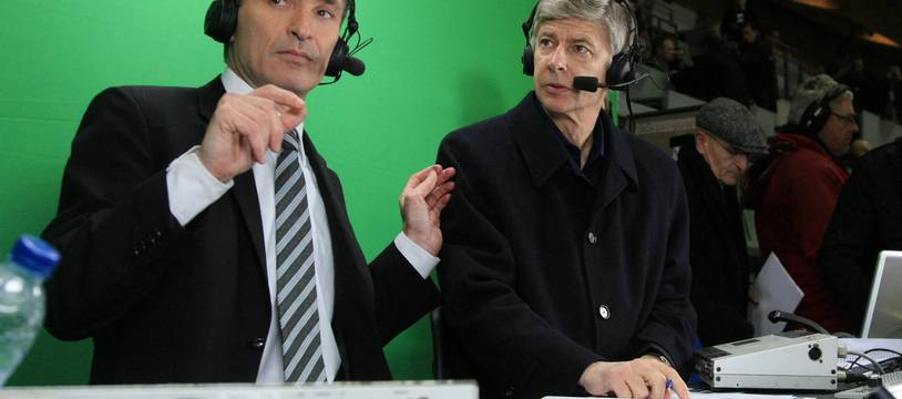 Christian Jeanpierre et Arsène Wenger en 2008, quand ils commentaient ensemble les matchs des Bleus.