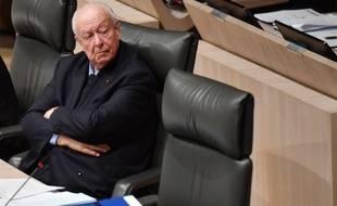 Jean-Claude Gaudin au conseil municipal de Marseille en décembre 2018