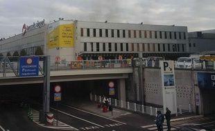 L'aéroport Zaventem à Bruxelles après des explosions, le 22 mars 2016.