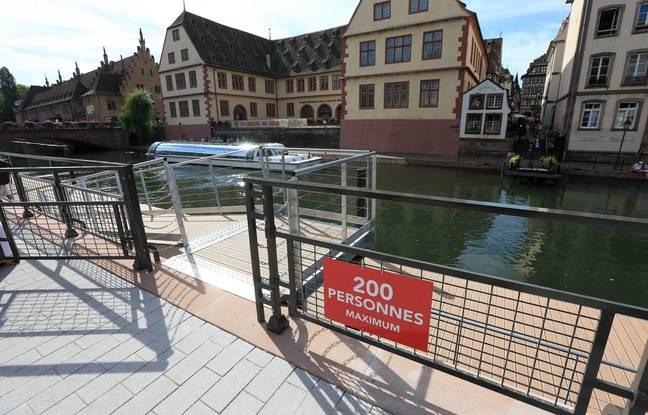 Le ponton des Bateliers à Strasbourg le 9 juillet 2018. Inauguration et ouverture au public.