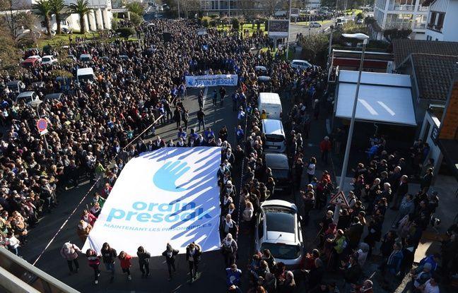 Bayonne: Des milliers de manifestants pour alerter sur le sort des prisonniers basques