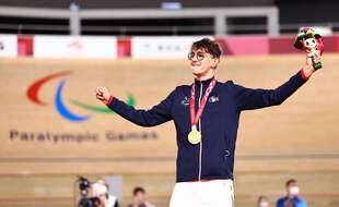 Alexandre Leauté, champion paralympique de poursuite à Tokyo.