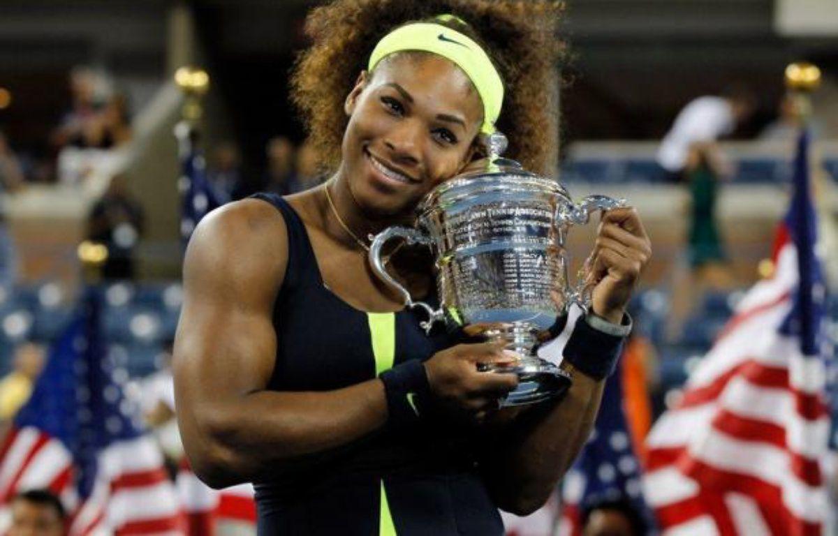 L'Américaine Serena Williams, tête de série N.4, a remporté l'US Open en battant dimanche en finale la Bélarusse Victoria Azarenka (N.1) 6-2, 2-6, 7-5 au terme d'un match de haute volée. – Mike Stobe afp.com